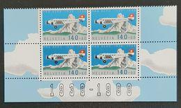 SUISSE    Poste Aérienne   Bloc De 4     N° Y&T  PA49  ** - Posta Aerea