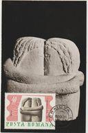 Carte-Maximum ROUMANIE  N° Yvert  2295 (BRANCUSI - Le Baiser)  Obl Sp 1er Jour Craiova 22.4.67 - Beeldhouwkunst