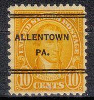 USA Precancel Vorausentwertung Preo, Locals Pennsylvania, Allentown 642-247 - Estados Unidos