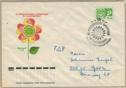 Umweltschutz Blumen Farben Rot Orange Gelb  Ganzsache 1976 - Pollution