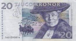 BILLET SUEDE SVERIGE RINKSBANK 20 TJUGO KRONOR LAGERLOF - Svezia