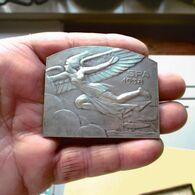 Médaille Commémorative Aviation à Spa 1938 Graveur J. Witterwulghe. Verviers  Bruxelles Uccle - Spa