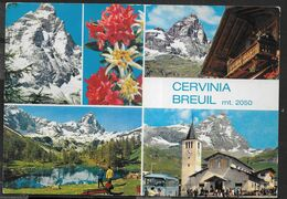 VALLE D'AOSTA - CERVINIA - BREUIL - VEDUTE - VIAGGIATA - Otras Ciudades