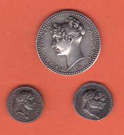 ( M-67) Lot De 3 Médaille Ttes EN ARGENT NAPOLEON ET JOSEPHINE - Royaux / De Noblesse