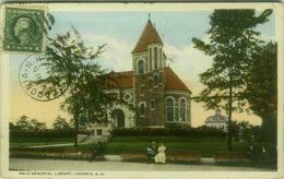 U.S.A. - GALE MEMORIAL LIBRARY - LACONIA N.H. - MAILED 1915  BG9174) - Etats-Unis