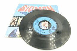 "Vintage BIOMAN : VINYL: Nouvelle Chanson Single RaRe COLLECTOR - 7"" 45 RPM - Iddh 1987- Canal Junior Soundtrack - Robot - Figurines"