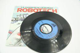 "Vintage ROBOTECH : VINYL: Macross La Cinq Carrere Single RaRe COLLECTOR - 7"" 45 RPM - 1986 - Soundtrack - Robot - Figurines"