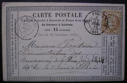 Saint Mihiel 1875 GC 3778 Sur Carte Précurseur - 1849-1876: Classic Period