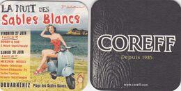 Sous-bocks Bière De Bretagne Coreff Depuis 1985 La Nuit Des Sables Blancs 3ème Edition Douarnenez - Sous-bocks