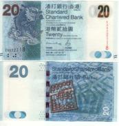 HONG KONG  New $ 20  Standard Chartered   (dated 1.1.2016 )  P297e - Hongkong