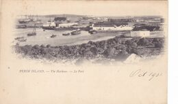 21/ Perim Island, The Harbour, Le Port, 1901 - Jemen