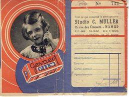 Pochette Négatifs Et Photos GEVAERT  - Studio  C. MULLER à NAMUR - Années 40 - Matériel & Accessoires