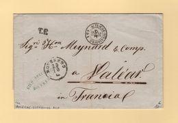 Marque D Entree - Autriche Strasbourg ASA - Sur Lettre De Roveredo (sans Correspondance) - 26 Octobre 1863 - Marques D'entrées