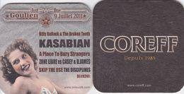 Sous-bocks Bière De Bretagne Coreff Depuis 1985 Goulien 9 Juillet 2011 KASABIAN - Sous-bocks