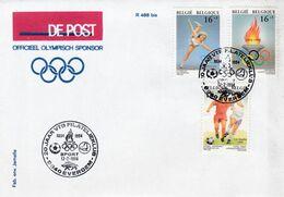 Enveloppe 2540 à 2542 De Post Officiel Olympisch Sponsor Olympique Evergem - Belgique