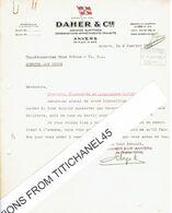 ANTWERPEN 1932 - DAHER & Cie - Agences Maritimes-consignations-affrêtements-transits - 58 Place De Meir ANVERS - Unclassified