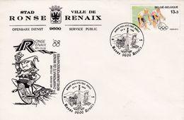 Enveloppe 2286 Stad Ronse Ville De Renaix Vélo Sport - Belgium