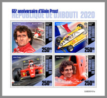 DJIBOUTI 2020 MNH Alain Prost Formula 1 Formel 1 Formule 1 M/S - OFFICIAL ISSUE - DHQ2029 - Cars