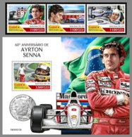 GUINEA BISSAU 2020 MNH Ayrton Senna Formula 1 Formel 1 Formule 1 4v+S/S - IMPERFORATED - DHQ2029 - Cars