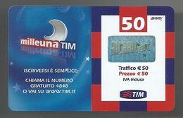 REF. 62 - TIM - 50 EURO - MILLEUNA TIM - VALIDITA . GIU 2010 - [2] Sim Cards, Prepaid & Refills