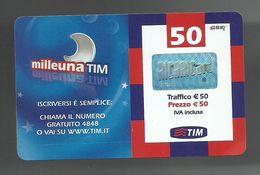 REF. 62 - TIM - 50 EURO - MILLEUNA TIM - VALIDITA . APR 2010 - [2] Sim Cards, Prepaid & Refills