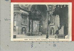 CARTOLINA NV ITALIA - ROMA - Basilica Di S. Pietro - Confessione - Statua Di S. Pietro - 9 X 14 - San Pietro