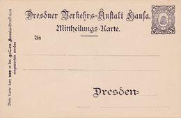 Dresdner ... Dresden - Postwaardestukken