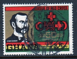 Ghana 1970  Single 12½np  Red Cross Fine Used Commemorative Stamp. - Ghana (1957-...)