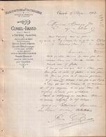 """PUY DE DÔME - THIERS - MANUFACTURE DE COUTELLERIE , MARQUE """" LE VIOLON """" - GIMEL DAVID - LETTRE - 1909 - France"""
