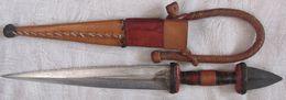 Art Africain Couteau Peulh Environ 34,5 Cm Lame 20,8 Cm - African Art