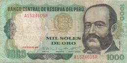 Pérou Peru : 1000 Soles De Oro 1979 Mauvais état - Perù