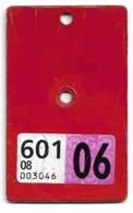 Velonummer Glarus GL 2006 (Vignette Mit Code 08 = Glarus) - Number Plates