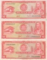 Pérou Peru : 10 Soles De Oro 1972 Ou 1973 (très Bon état) : Prix Par Billet - Perù