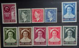 BELGIE 1953    Nr.  909 - 911   Postfris **  +  Nr. 908 En 912 - 917  Scharnier *       CW  35,00 - Unused Stamps