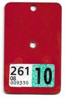 Velonummer Glarus GL 2010 (Vignette Mit Code 08 = Glarus) - Number Plates