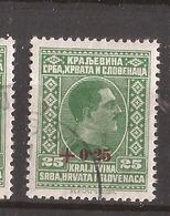 KR-1  1926  200   JUGOSLAVIJA JUGOSLAWIEN  OVERPRINT   USED - Oblitérés