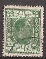 KR-1  1926  188   JUGOSLAVIJA JUGOSLAWIEN  KOENIG ALEKSANDAR   USED - Oblitérés
