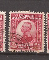 KR-1  1921 157  JUGOSLAVIJA JUGOSLAWIEN  KOENIG  PETAR I   USED - Oblitérés