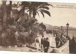 CPA ,Monaco ,N° 104, Monte Carlo ,Les Terrasses Du Casino .Ed. R.M. - Terrassen