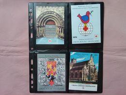 FRANCIA Anni '70 - Croce Rossa - 4 Libretti Completi Nuovi ** (sottofacciale) + Spese Postali - Red Cross