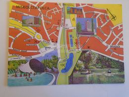 D172690 Map Carte MISKOLC Miskolctapolca   Hungary 1976 - Landkaarten