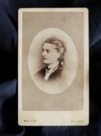 Photo CDV Mayen à Avignon  Portrait Femme  CA 1875-80 - L498T - Antiche (ante 1900)