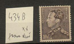 Belgie - Belgique Ocb Nr :  434B  * MH  (zie Scan) - 1936-1951 Poortman