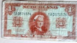 NEDERLAND ;: 1 GULDEN  1945 - [2] 1815-… : Koninkrijk Der Verenigde Nederlanden