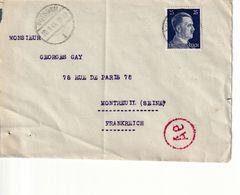 3. Reich ,Zensur Von Potsdam Nach  Montreull, France - Germany