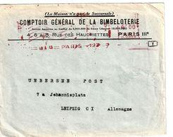 3. Reich ,Zensur Von France, Paris Nach Leipzig - Germany