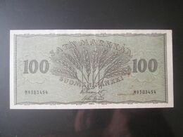 Rare! Finland 100 Black Markkaa 1955 Banknote - Finland