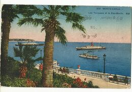 CPA ,Monaco , N°302 ,Monte Carlo , Les Terrasses Et Le Cap Martin ,Animée , Ed. R.M.1936 - Terrassen