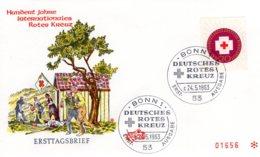 Bund 100  Jahre Internationales Rotes Kreuz  FDC - Cruz Roja