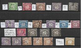 GRANDE BRETAGNE-TAXE -21 TRES BEAUX TIMBRES OBLITERES DONT 11 AVEC FILIGRANE ET N° +9 AVEC +1 SANS FILIGRANE -1914/23 - Postage Due